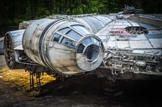 Some photos from the set of Star Wars: Episode VIII have surfaced featuring incredibly cool detailed shots of the Millennium Falcon. The ship was found by a group of urban explorers who tracked down the location and posted the photos on Oblivion State. There was no filming going on at the location when they showed up, just a giant Millennium Falcon that they could play around in! How freakin' awesome is that?! I want to go play with it! Via: Making Star Wars