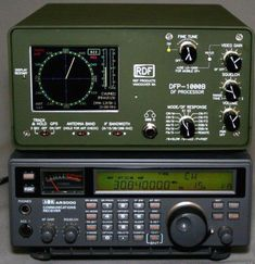 The Radio on the bottom is a AOR 5000 Communications Receiver Radios, Radio Amateur, Ham Radio Operator, Ham Radio Equipment, Ham Radio Antenna, Survival Prepping, Communication, Electrical Projects, Military Weapons