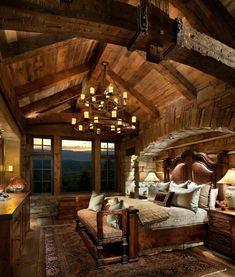 Cozy design. Rustic living. Rustic bedroom.