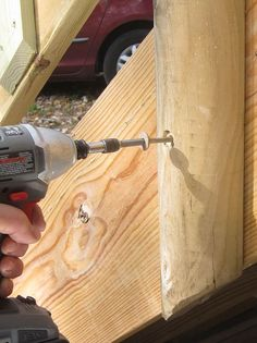 Simpson Strong-Tie® Strong-Drive® TIMBER Screw: As many of you know, I've been rebuilding our family cottage for a few summers now. I've doubled the floor space and raised the roof, and I'm in the middle of building two decks. During this project, I've become a huge fan of big structural screws... http://community.familyhandyman.com/tfh_group/b/diy_advice_blog/archive/2014/11/05/simpson.aspx