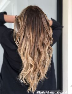 Balayage and hair styles hair hair looks, new hair color. Ombre Hair Color, Hair Color Balayage, Brown Hair Colors, Blonde Balayage, Blonde Highlights On Dark Hair Brunettes, Balayage Long Hair, Orange Highlights, Brunette Color, Bayalage