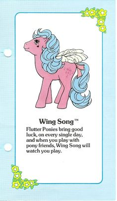 My Little Pony Wing Song fact file ...