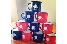 Red and Navy Stoutgatte Mugs by tjou-tjou