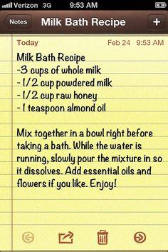 Milk Bath for Dry Winter Skin