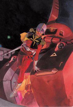 Char Aznable (シャア・アズナブル Shaa Azunaburu) known as The Red Comet. Char is a 20 year old Newtype from Side He is Lieutenant Commander/Captain (Principality of Zeon / Axis Zeon) he currently pilots the Zaku II Commander Type. ガンダム The Origin, Villain Costumes, Japanese Robot, Zeta Gundam, Gundam Wallpapers, Gundam Mobile Suit, Gundam Seed, Gundam Art, Mecha Anime