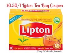 New $0.50/1 Lipton Tea Bags Coupon - Only $0.39 at Foodtown + Lots More Deals!  - http://www.livingrichwithcoupons.com/2014/04/new-0-501-lipton-tea-bags-coupon-0-39-foodtown-lots-deals-done.html