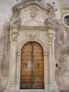 Old Street door Scanno~  Abruzzo, Italy by Panoraman, via Flickr