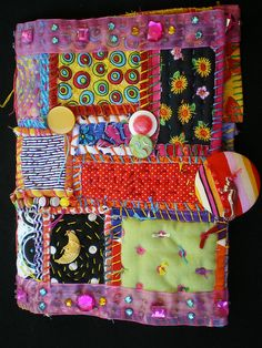 cloth journal covers | Fabric journal - front cover | Flickr - Photo Sharing!