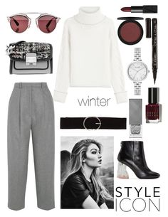 """""""winter at nyc"""" by isilyas ❤ liked on Polyvore featuring Acne Studios, Karl Lagerfeld, Christian Dior, NARS Cosmetics, Vero Moda, Bobbi Brown Cosmetics, Burberry, Smith & Cult and Kate Spade"""