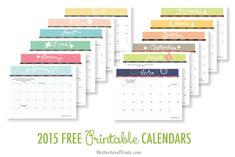 2015 Free Printable Calendars | Crafting in the Rain