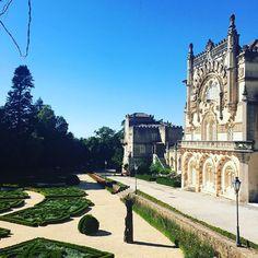 Palácio do Bussaco que fica na Mata Nacional do Buçaco em Portugal. Castelo…