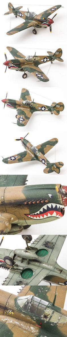 Curtiss P-40 by Korhan AKBAYTOGAN Scale Models, Mercedes Stern, Airfix Models, Aircraft Propeller, Airplane Art, Model Hobbies, Military Modelling, Vintage Air, Ww2 Planes