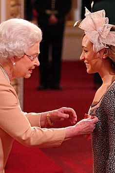 Medal winner Jessica Ennis receives another for her collection. She has been awarded with a Commander of the British Empire (CBE) medal by the Queen during Investiture ceremony at Buckingham Palace today. Hm The Queen, Save The Queen, Team Gb Cycling, Jessica Ennis Hill, Investiture Ceremony, Heptathlon, In Your Honor, English Royalty, Princess Charlotte