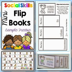 Clever Classroom: Free Social Skills Flippy Book and Desk Mate Social Skills Lessons, Social Skills Activities, Teaching Social Skills, Social Emotional Learning, Therapy Activities, Life Skills, Teaching Resources, Coping Skills, Shape Activities