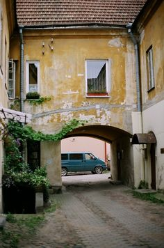 courtyard Vilnius, Lithuania Lithuania Travel, Baltic Region, Closed Doors, Countries Of The World, Beautiful Places, Folk, Places To Visit, Around The Worlds, Memories