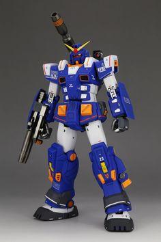 GUNDAM GUY: P-Bandai Exclusive: MG 1/100 Full Armor Gundam Blue Ver. - Painted Build
