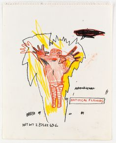 JEAN-MICHEL BASQUIAT DRAWING, MEL RAMOS WATERCOLOR, KAREL APPEL OIL PAINTING AND A SET OF SEVEN... - Artwire Press Release from ArtfixDaily.... Jean Basquiat, Jean Michel Basquiat Art, Words On Canvas, Neo Expressionism, Life Paint, Whitney Museum, Art Walk, American Artists, Graffiti