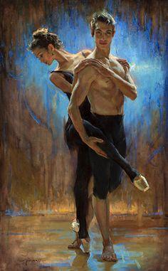 Ballet and Brilliant Blue by Dan Gerhartz, Oil on Linen, 48 x 30 Painter Artist, Artist Painting, Sans Art, Ballerina Painting, Pastel Portraits, Fairytale Art, Impressionist Art, Hippie Art, Sketch Painting