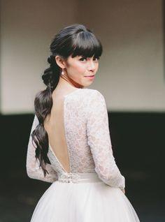 Modern ponytail wedd