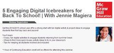 Get the 2014/2015 school year off to a strong start with fun digital activity & project ideas to engage students their first day back and beyond!  You'll learn 5 easy, fun digital activities to engage students returning from summer break, where to find more quick & easy activity ideas to try in your classroom, and tips for keeping all students involved and included.  1 hour of Continuing Education credit will be offered for attending this webinar.