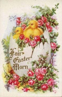 vintage postcard #easter