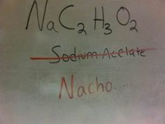 it's chemical loll