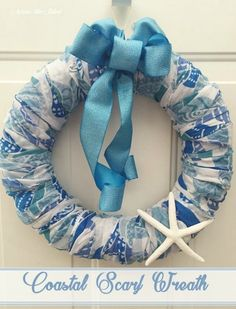 s 17 tricks to make a gorgeous wreath in half the time, crafts, wreaths, Wrap a decorative scarf