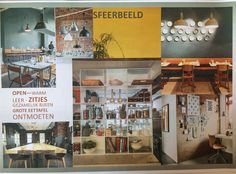 Moodboard and first stap for lunchplace in Factory Dokkum