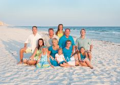 Panama City Beach Group Large Family Portrait Photographer | Knowles Portrait Design Rebecca Knowles Photography