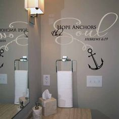 Anchor your soul with this gorgeous wall decal! Available in two colors, one for the word Anchor and the other for the simple text.