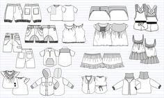 Illustrator fashion flats  #illustratorstuff #fashionflats #fashiontemplates #fashionsketches