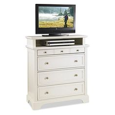 Nice Home Styles Naples 6 Drawer Media Chest - White Check more at https://totalclearance.net/product/home-styles-naples-6-drawer-media-chest-white
