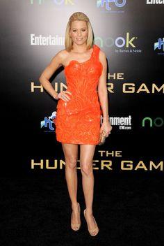 """Elizabeth Banks at """"The Hunger Games"""" world premiere."""