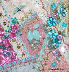 Crazy Memory Quilt Block #10 Crazy Quilting and Embroidery Blog by Pamela Kellogg of Kitty and Me Designs