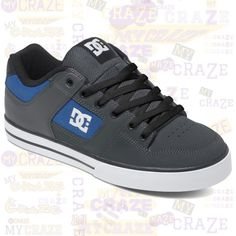DC SHOES MENS PURE SKATE SKATER STREETWEAR SNEAKERS #DCShoes #SkateboardShoes #Sneakers