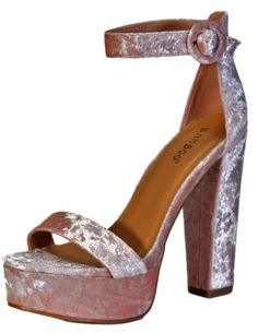Heel Pls confirm your feet size before you order the shoes. Block Heel Platform Sandals, Pump Shoes, Block Heels, Shoes Sandals, Pumps, Buy Bamboo, Pastel Fashion, Open Toe, Ankle Strap