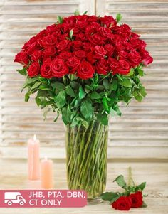 Buy or Send presenting one of our most astounding floral arrangements, if theres a really big occasion or if youre in the dog box again, just the sight of these red roses in a glass vase on delivery will have them singing your praises again.<!--Roses Only-->  in South Africa.