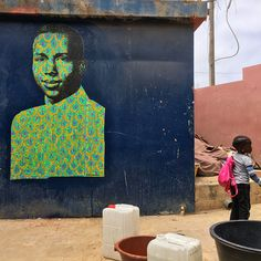 #StreetArt : #painting / spray & acrylic on #paper by #SebastienBouchard - Ouakam, #Dakar #Sénégal december 2017