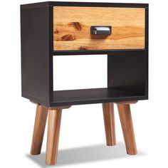 Expertly crafted from solid acacia wood and high-quality MDF, the bedside cabinet is very sturdy and durable. Our high-quality bedside cabinet, with a simple yet stylish design, will make a great addition to your bedroom, living room or lounge. Shelf Nightstand, Bedside Cabinet, Wooden Bedside Table, Wooden Tables, Bedside Tables, Living Furniture, Wood Furniture, Chest Furniture, Bedroom Furniture