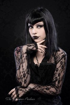 Black Lace Goth Girl