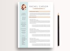 Creative and Modern Resume Template 3 page / CV Template + Cover Letter / Instant Download for MS Word & InDesign by ByStephanieDesign on Etsy
