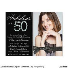 Shop Elegant Glitter Diamond Fab 40 Photo Birthday Invitation created by PartyHearty. Glitter Birthday Parties, 50th Birthday Party Invitations, Elegant Birthday Party, Fabulous Birthday, Photo Invitations, Elegant Invitations, Invitation Cards, Invites, Forty Birthday