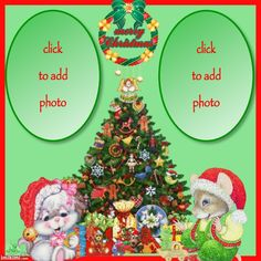 ANIMATED CHRISTMAS TREE & ANIMALS PICTURE FRAMES Christmas Frames, Christmas Ornaments, Animated Christmas Tree, Animal Pictures, Picture Frames, Animation, Holiday Decor, Animals, Beautiful
