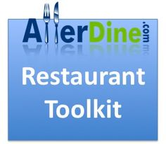 Aller dine toolkit- lets you input your allergy info and search for restaurants based on your info.