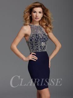 CLARISSE 2909 Midnight Blue Homecoming Dress