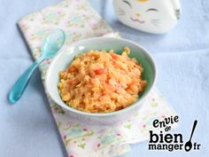 Purée de lentilles corail et tomates dès 6 mois Pureed Food Recipes, Baby Food Recipes, Full Fat Yogurt, Baby Cooking, Baby Puree, Cooking Supplies, Homemade Baby Foods, Meals For One, Kitchen