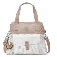 Love this for a summer bag. PAHNEIRO EYELET HANDBAG - Kipling #SpringNeutrals