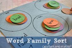 Word Family Sort ~ Creative Family Fun
