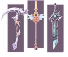 Weapons by Epic-Soldier on DeviantArt Fantasy Sword, Fantasy Weapons, Fantasy Art, Game Design, Prop Design, Character Design Sketches, Sword Design, Anime Weapons, Weapon Concept Art