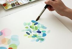 A very detailed watercolour tutorial covering basics and supplies to get you started on this fascinating hobby - The Alison Show Watercolor Techniques, Watercolor Painting Tutorials, Watercolour Tips, Simple Watercolor, Green Watercolor, Watercolor Pattern, Watercolour On Canvas, Watercolor Pencils, Watercolor Cards